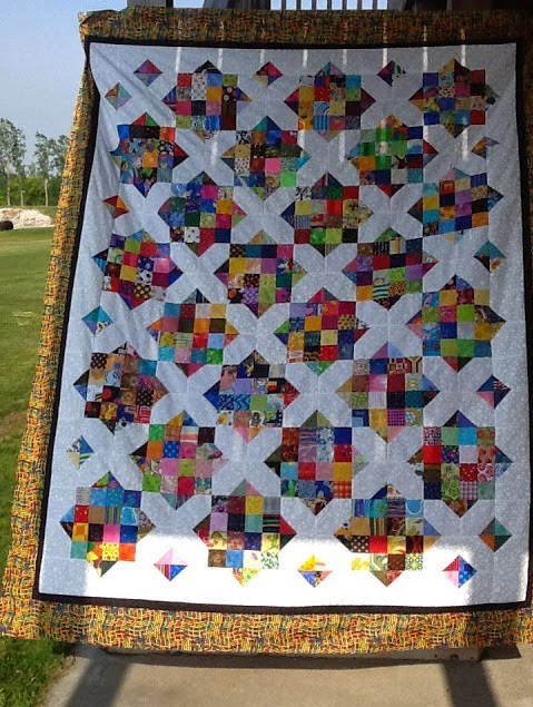 Arkansas Crossroads quilt on QFTB
