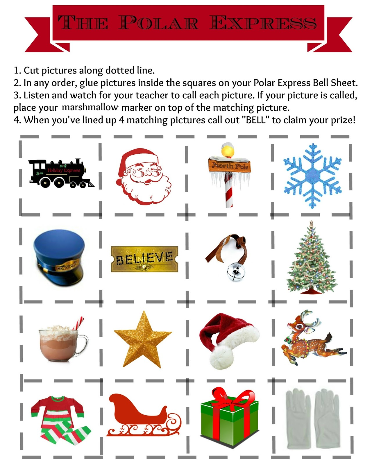 It is an image of Sizzling Polar Express Printables