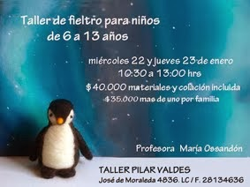 Taller de fieltro para niños 2014
