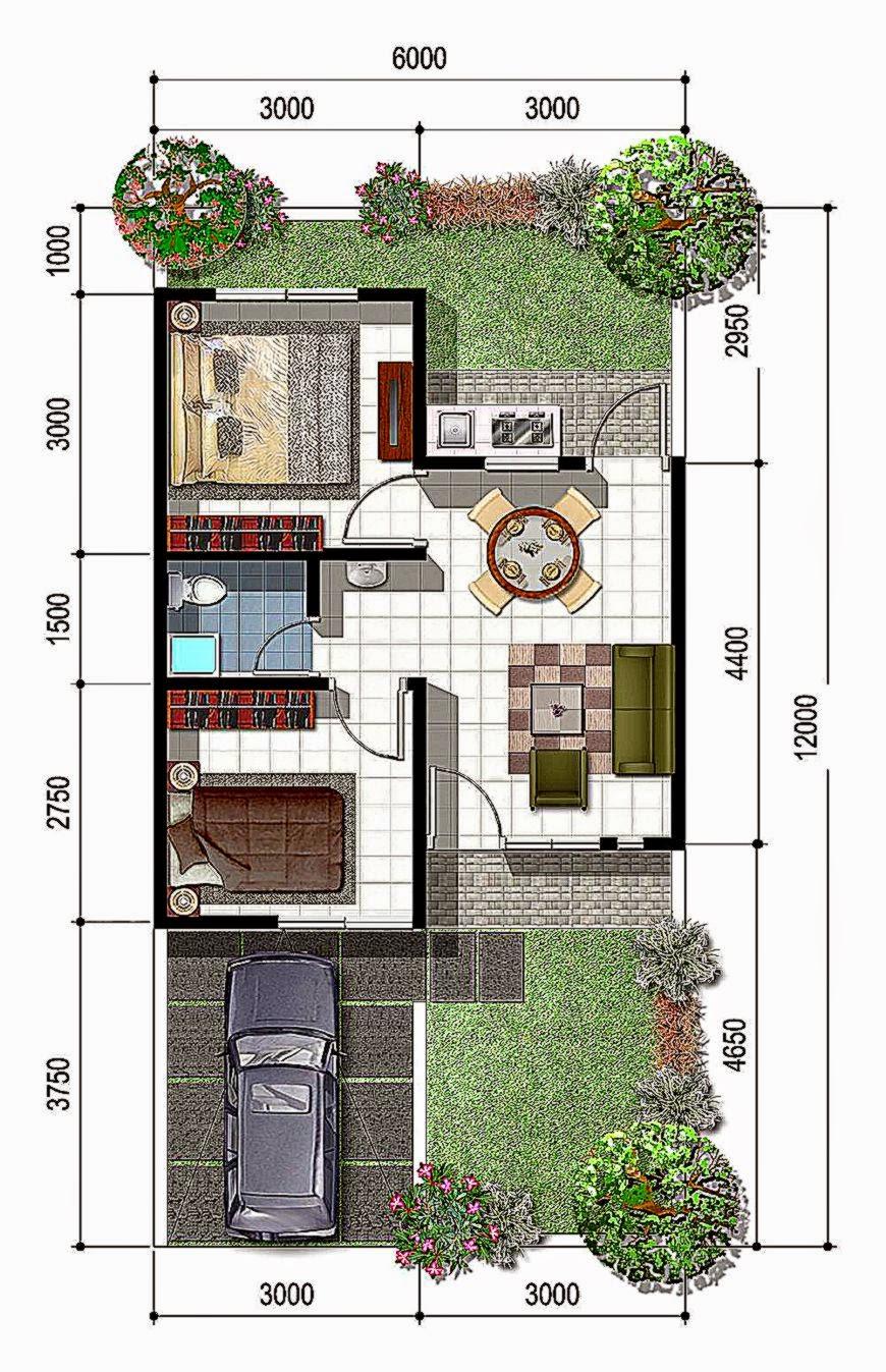 Gambar Desain Rumah Minimalis 2015 Sketsa Denah Sederhana