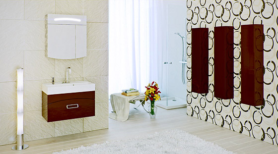 Сантехника на фото: мебель Aqwella Tempo для ванной комнаты