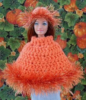 Crochet Poncho for Barbie-Free pattern