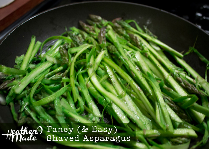 fancy and easy shaved asparagus. vegetable. side. recipe