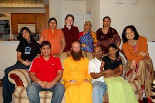 Swami Nikhilanand speaking on chanting of Hare Ram Hare Krishn Maha Mantra and Radhey Shyam Mantra