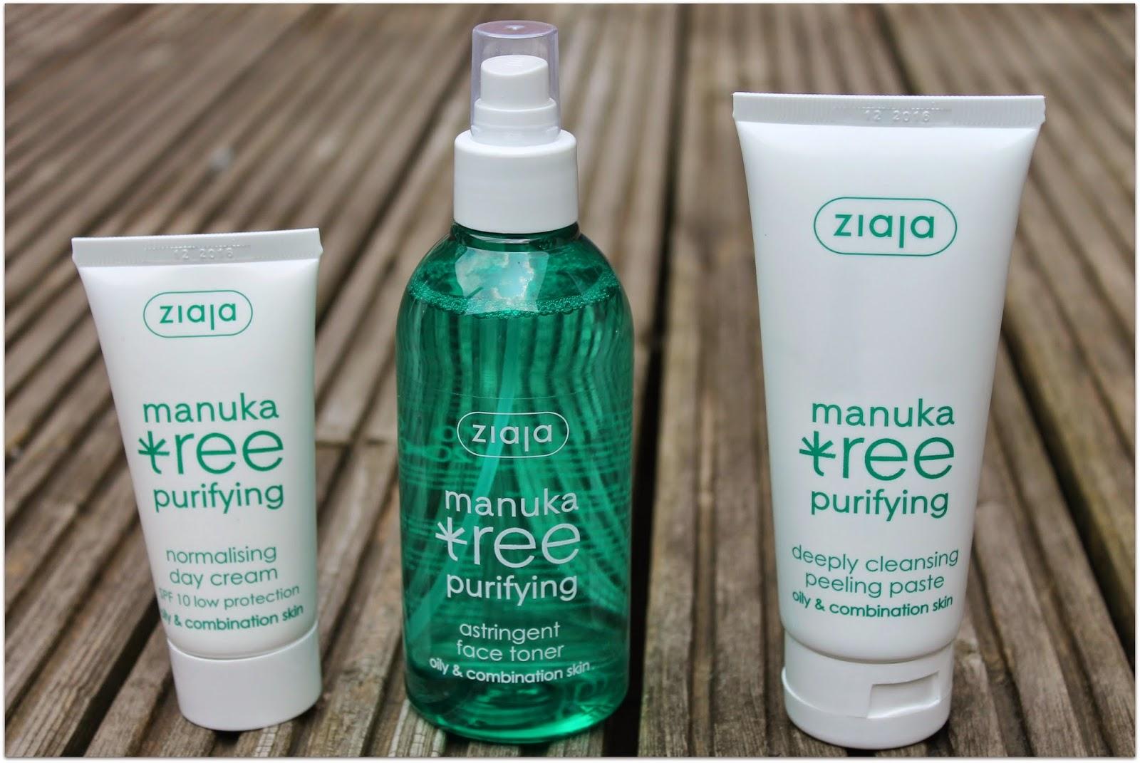 Ziaja Manuka Tree Purifying Range