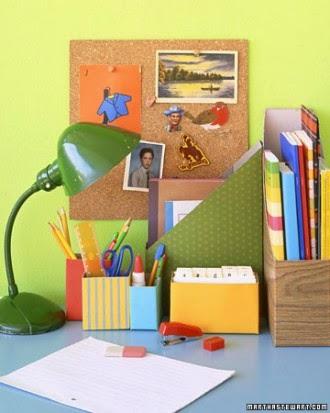 caja cartón, reciclaje, reciclar, escritorio ordenado