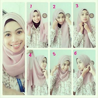 Tips Mudah Kreasikan Hijab Paris Polos Sederhana
