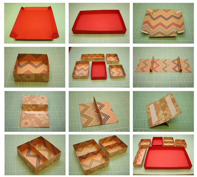 bits of paper  organizational tray two