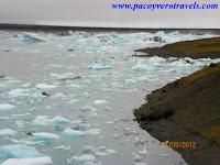 Laguna glaciar de Fjallsarlon en Islandia
