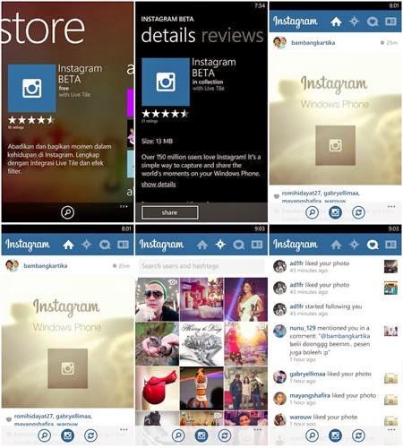 Aplikasi Instagram Untuk Windows Phone