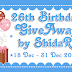 26th birthday giveaway by shidar