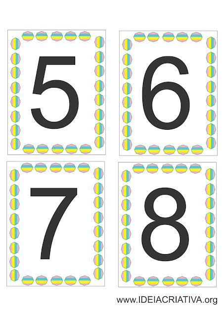 Flash cards para Atividade Sensorial Psicomotricidade Fina Escrita Colorida