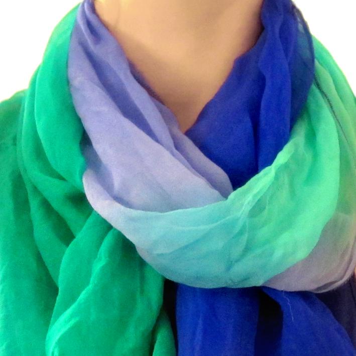 Foulard effet tie and dye - http://spicerabbits.blogspot.fr/