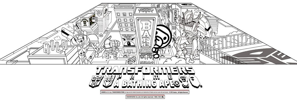 Bape Coloring Page Coloring Pages