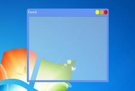 Custom Form Border With Background Opacity using VB net Csharp in Visual Studio with Windows API dll