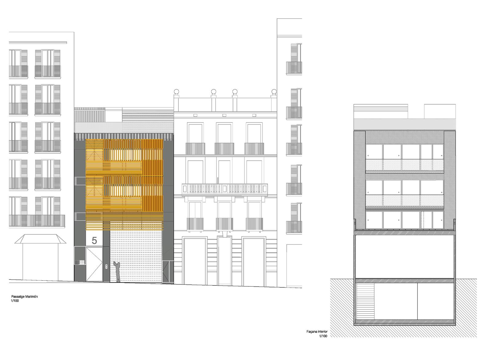 Edificio de viviendas de lujo en barcelona josep llu s - Local vivienda barcelona ...