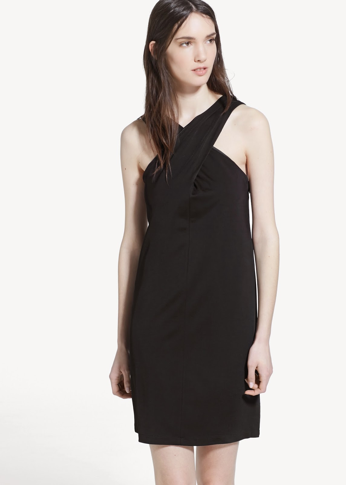 mango neck strap dress