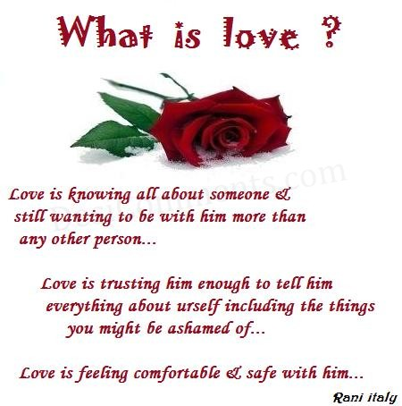 what is love. What is love? Posted by Fe at 11:16 PM