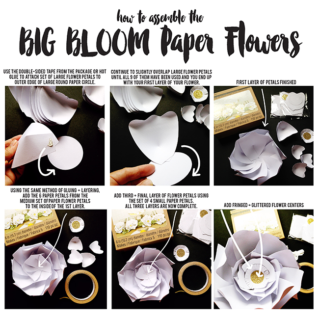 pen paper flowers craft giant paper flowers