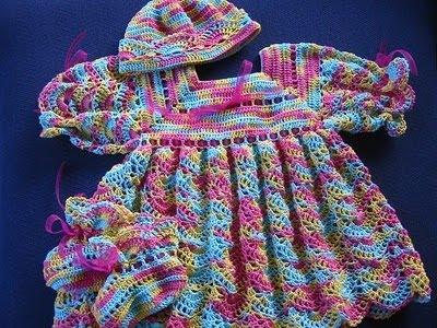 Modelos de Vestidos de Crochê para bebês