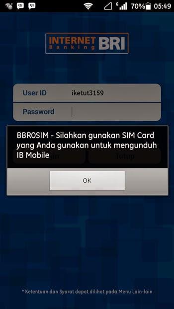 Solusi Kesalahan Mobile Banking BRI BBR0SIM