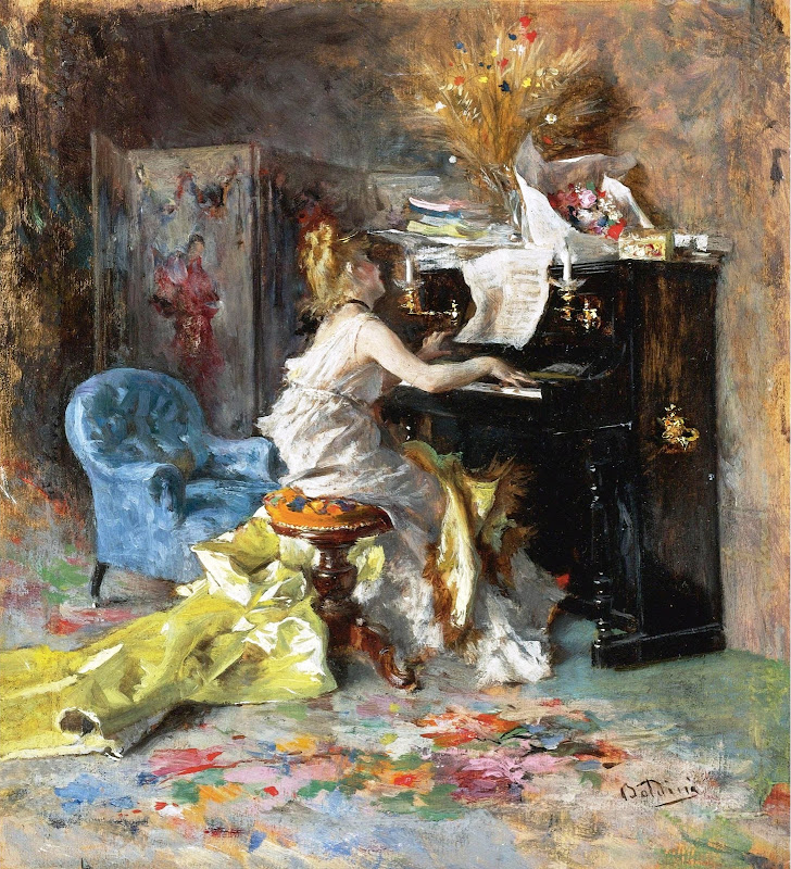 Giovanni Boldini - Woman by the Piano