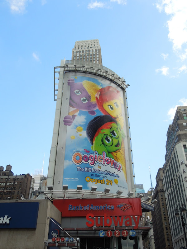 Oogieloves movie billboard NYC