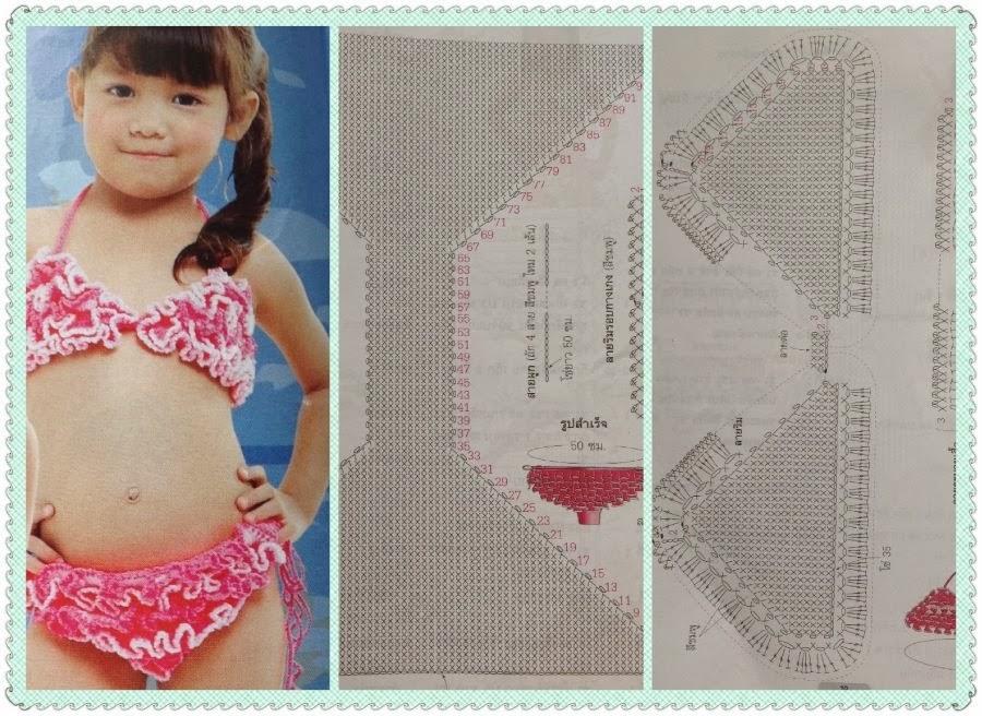 Su Crochet: patrones de bikinis para las mas chiquitas