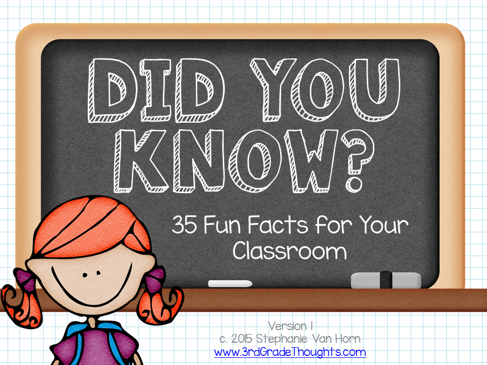 Did you know fun facts 3rd grade thoughts
