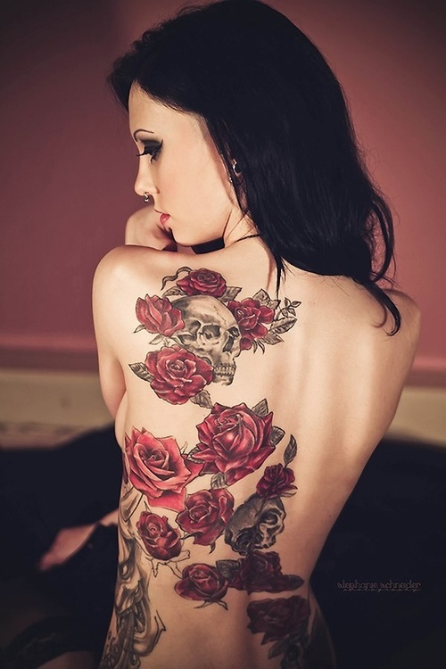 sexy back tattoos for girls