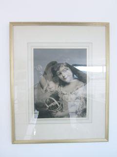 """Photo Ancienne """"la petite fille aux cerises"""""""