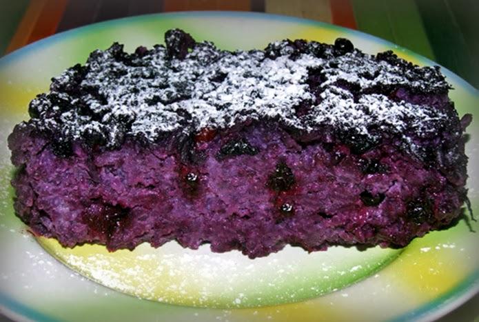 Черничный пирог с рисом, изюмом и миндалем