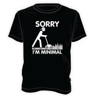 Koszulka Sorry, I'm minimal
