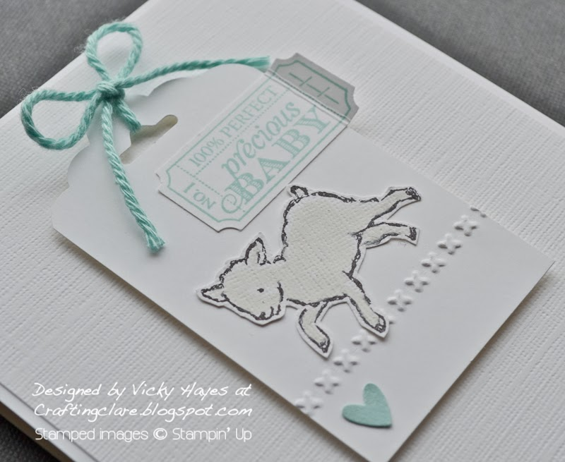Baby boy card using That's The Ticlet and StoryBook Friends from Stampin Up