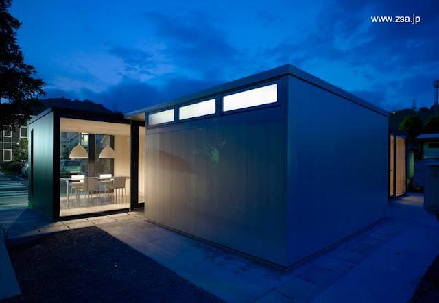 Casa japonesa contemporánea de aluminio