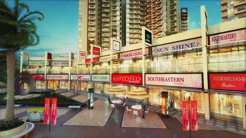 SkyPlaza, the most viable commercial project in Gr. Noida West with few limited retail spaces.