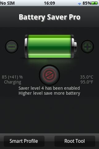 Tampilan Batery Saver Pro