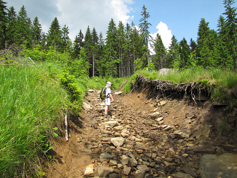 Podejście na Baranią Górę.