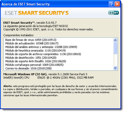 ESET Smart Security v5.0.93.7 Final [Español] [Con seriales] [x86 - x64]