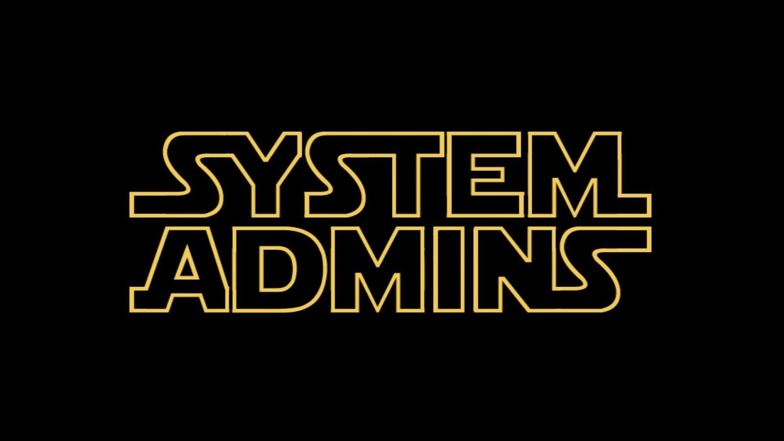 من هو مدير النظام(system admin)
