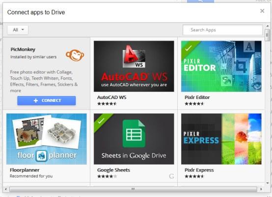 how to go to google drive menu