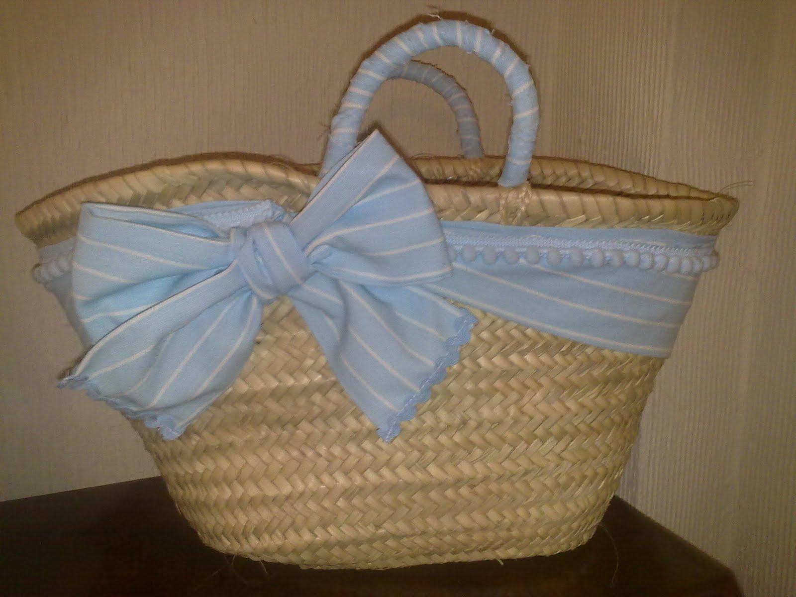 el osito de vichy toalla y cesta de playa