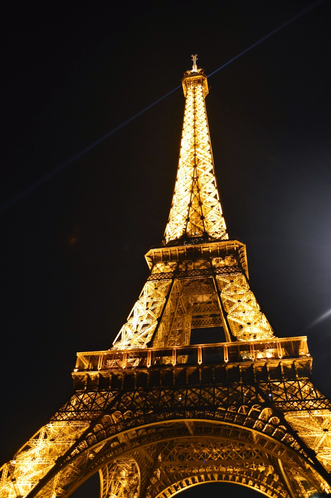 Eiffel Tower at night. Paris, France