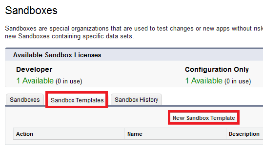 Infallible Techie: Sandbox Templates in Salesforce