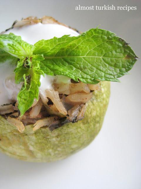 Vegetarian Stuffed Globe Zucchini