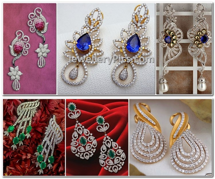 diamond earrings from kalyan jewellers