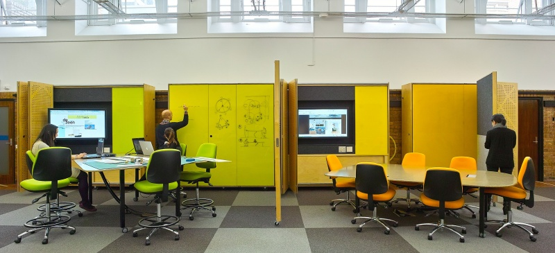 Classroom Design Study : Open learning spaces environments spatial lab