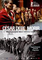 Cartel de la película 'César debe morir', de Paolo y Vittorio Taviani, con Cosimo Rega y Salvatore Striano. Making Of. Cine