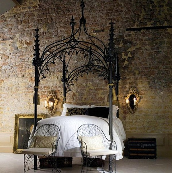 mysterious gothic bedroom home design interior design