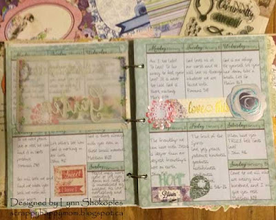 Calendar Girl Planner by Lynn Shokoples for BoBunny featuring the Secret Garden Collection